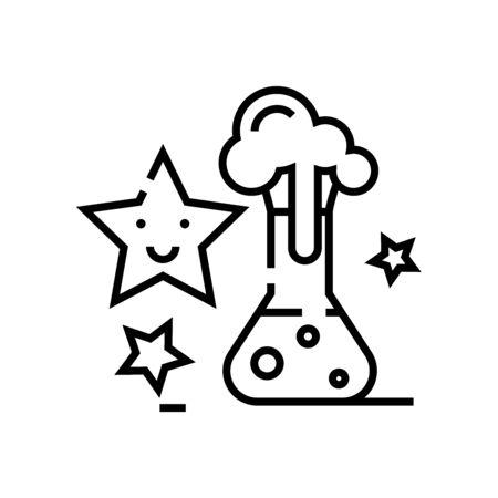 Magic decision line icon, concept sign, outline vector illustration, linear symbol.
