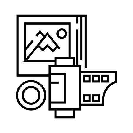 Photography line icon, concept sign, outline vector illustration, linear symbol.