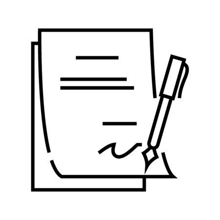 Reportature line icon, concept sign, outline vector illustration, linear symbol.
