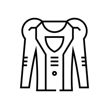 Bot clothes line icon, concept sign, outline vector illustration, linear symbol.