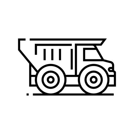 Truck line icon, concept sign, outline vector illustration, linear symbol.