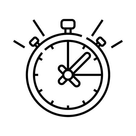 Alarm sound line icon, concept sign, outline vector illustration, linear symbol.