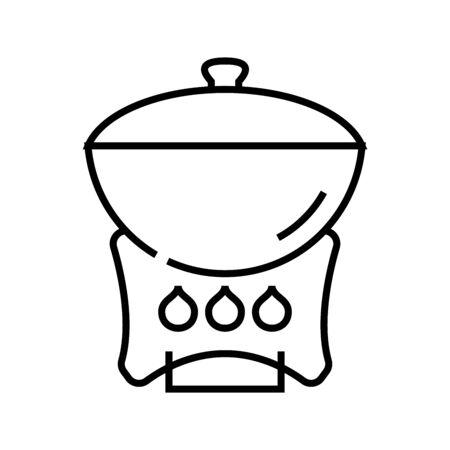 Roast line icon, concept sign, outline vector illustration, linear symbol.