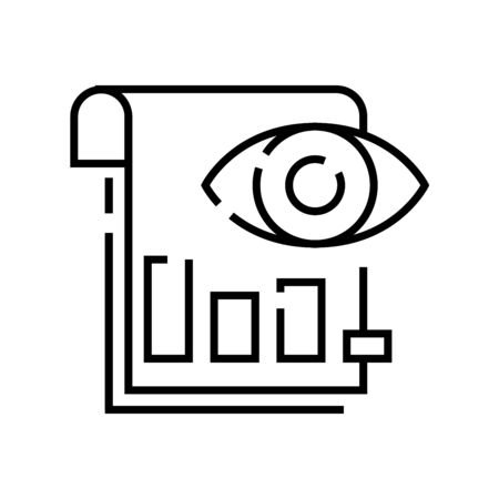 View chart line icon, concept illustration, outline symbol, vector sign, linear symbol.