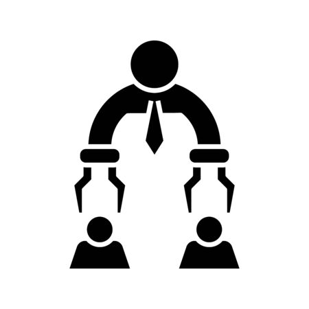 Employee selection black icon, concept illustration, glyph symbol, vector flat sign. 版權商用圖片 - 143285373