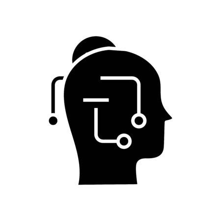 Smart idea black icon, concept illustration, glyph symbol, vector flat sign.