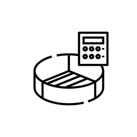 Market statistics line icon, concept illustration, outline symbol, vector sign, linear symbol.