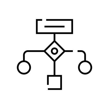 Block diagram line icon, concept illustration, outline symbol, vector sign, linear symbol.