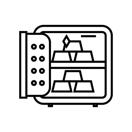Savings line icon, concept illustration, outline symbol, vector sign, linear symbol.