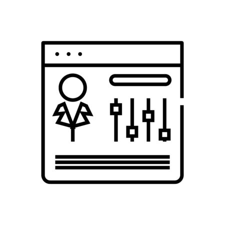 User settings line icon, concept illustration, outline symbol, vector sign, linear symbol.