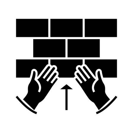 Problems black icon, concept illustration, glyph symbol, vector flat sign.
