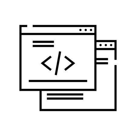 Web pages line icon, concept illustration, outline symbol, vector sign, linear symbol.