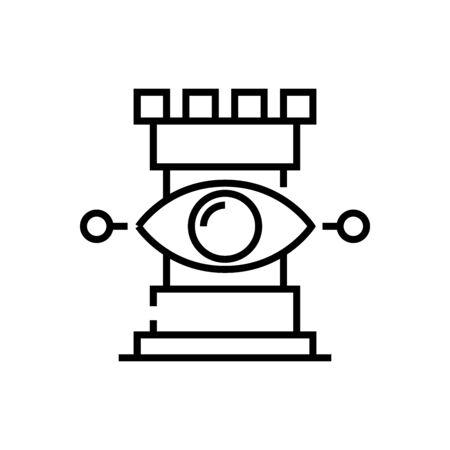 Visible opprtunities line icon, concept sign, outline vector illustration, linear symbol. Ilustração