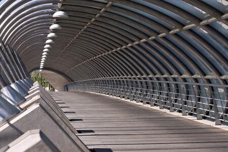 modern bridge: Modern bridge in Zaragoza, Spain