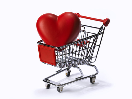 shopping cart with heart photo