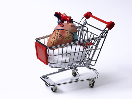 Heart in a shopping cart photo