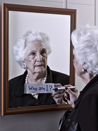 aging woman: Alzheimer\\\\ Stock Photo