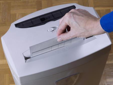 paper shredder: Paper  shredder Stock Photo