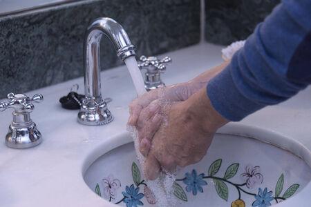 Hands washing photo