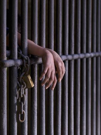 cellule de prison: Prisonnier Banque d'images