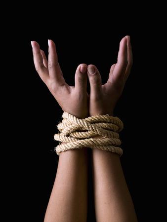 Tied hands photo