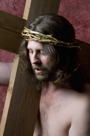carrying the cross: Christ carrying the Cross Stock Photo