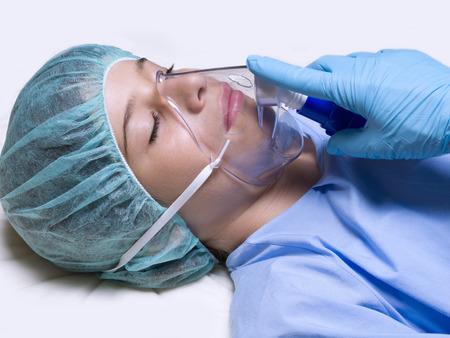 12 13 years: Sick. Operating Room Stock Photo