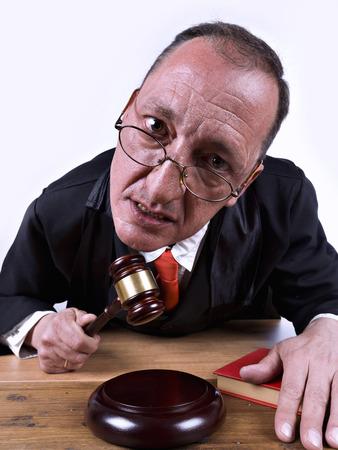 Judge furious, using his gavel