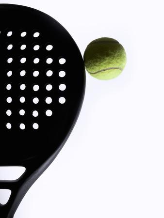 racket sport: Paddle racket and ball, closeup