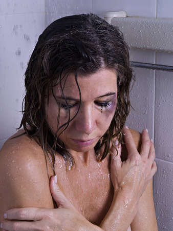 battered woman: Battered women in the shower