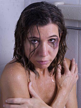 beaten woman: Battered women in the shower