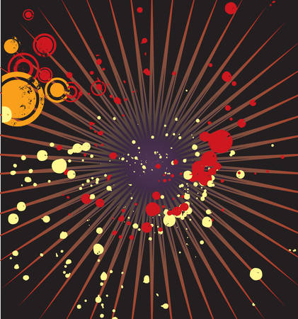 circles and spots on a dark background, vector Vector