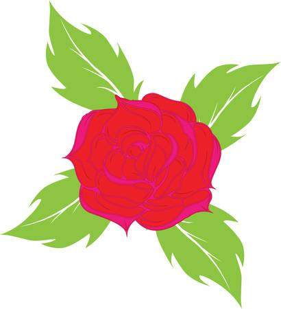 allaya rose on a white background.vector Stock Vector - 4809912
