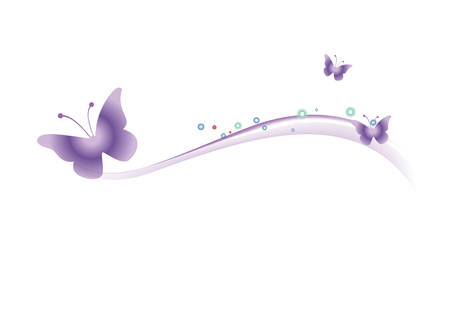 purple butterfly: The butterfly on a white background. Vector illustration  Illustration