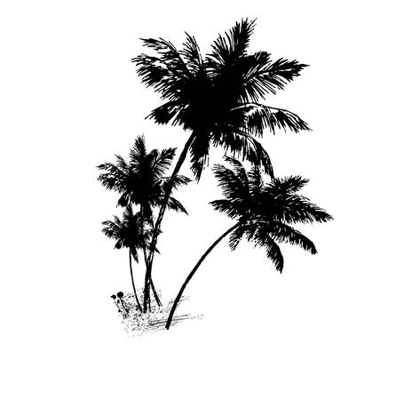 silhouette of tree on a white background.vector Vector