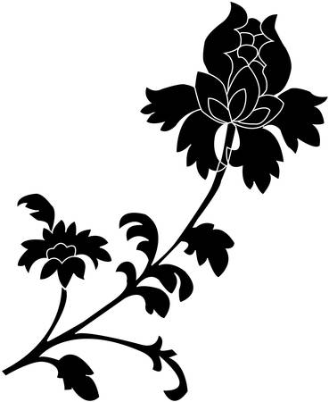 Black silhouette on a white background. Vector Stock Vector - 4837100