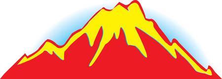matterhorn: znachek  mountains on belofone.Vtctor