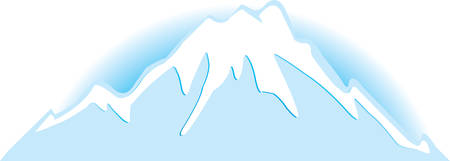 znachek of snow-bound mountains on belofone.Vector  Stock Vector - 4837091