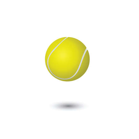 Yellow tennis ball on a white background.vector Stock Photo - 5362914