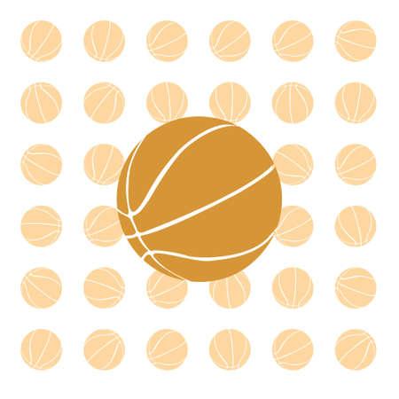 Orange basketball ball on a white background. vector Stock Photo - 5362911