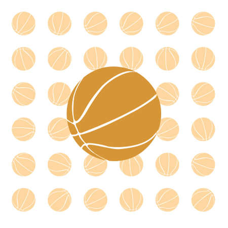 Orange basketball ball on a white background. vector photo