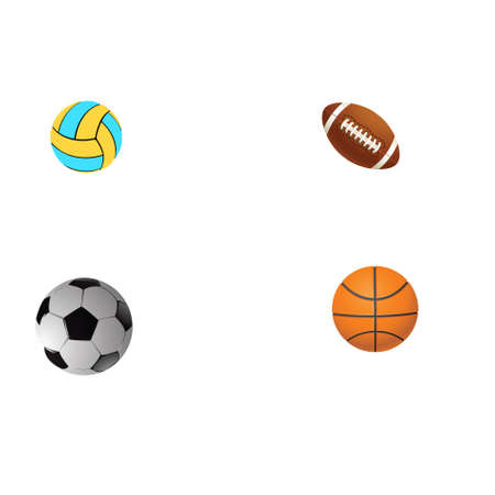 Four different balls on a white background.Vector Stock Photo - 5422514
