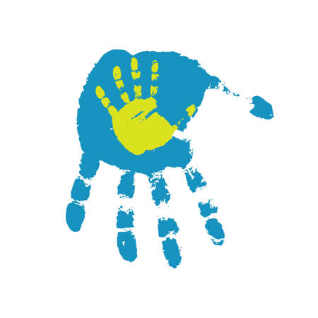 dirty hands: Hand print