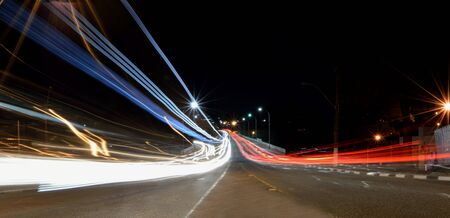 fondle: Car Light Trails painting