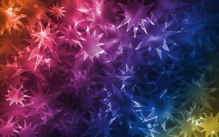 Multiple colorful vibrant sparkle bokehs photo