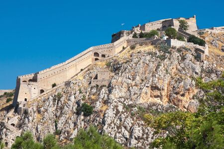 peloponissos: Ancient Palamidi fortress at Nafplio, Greece Stock Photo