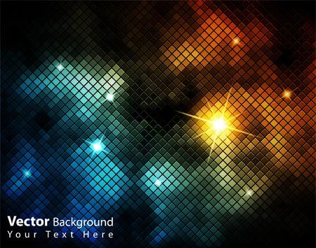 EPS10 vettore lucido mosaico colorato sfondo di fantasia Archivio Fotografico - 10183780