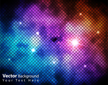 EPS10 vector shiny fantasy mosaic colorful background