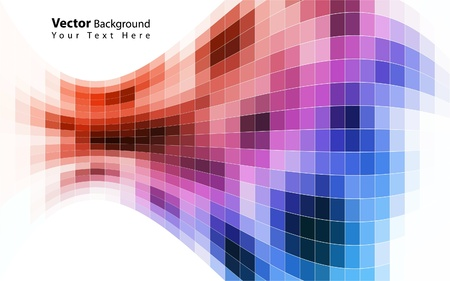color effect: Vector colorful mosaic background