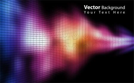 orange swirl: Vector colorful mosaic background